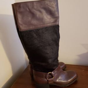 Nwot Lucky Brand Buckle CowHair Boots size 6.5M